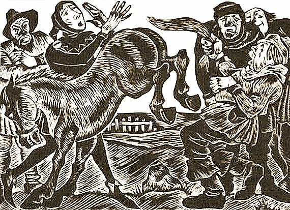 German trickster Til Eulenspiegel by Fritz Eichenberg