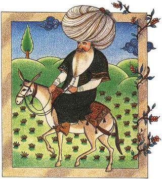 A 17th century miniature of Nasreddin