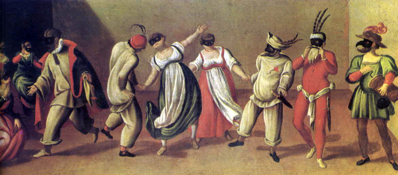 The masked players of Commedia dell'Arte