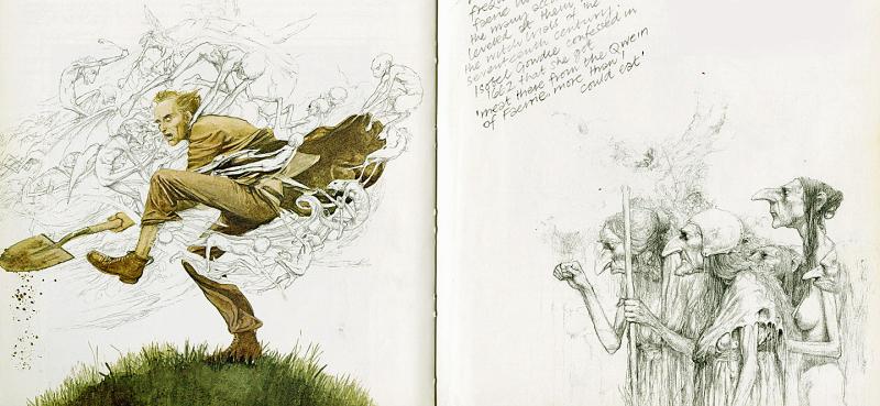 ''Faeries'' art by Alan Lee