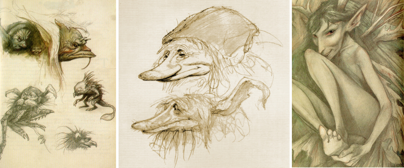 Sketchbook drawings Brian Froud