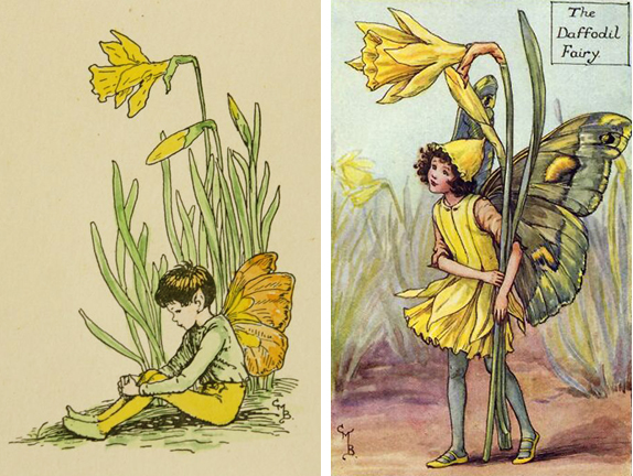 Daffodil Fairies by Cicily Barker (1895-1973)