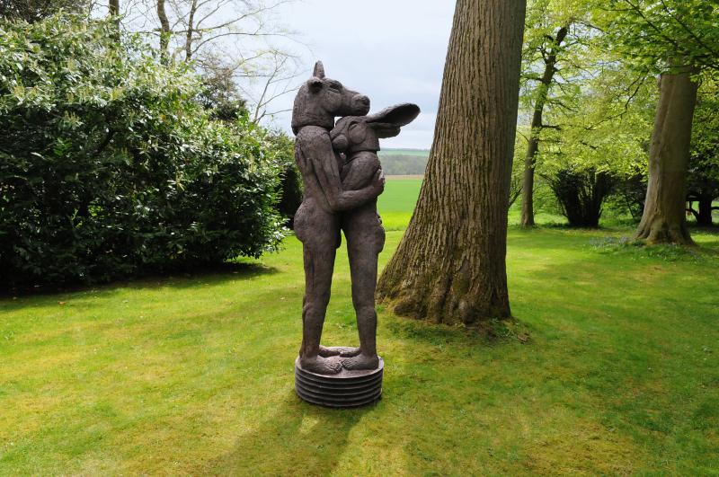 Hugging by Sophie Ryder