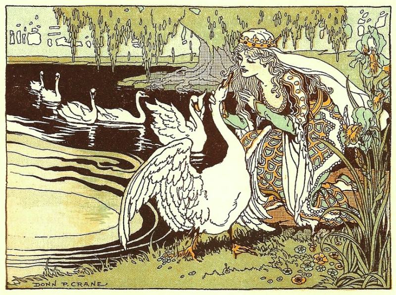 ''The Wild Swans The Princess and her Swan Brothers'' by Donn P Crane