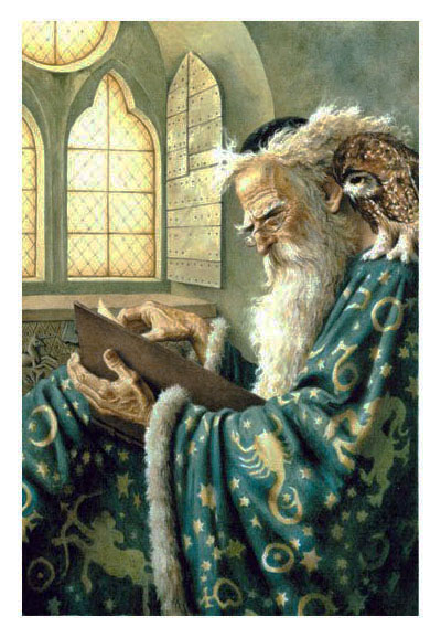 Merlin and Archimedes by Dennis Nolan