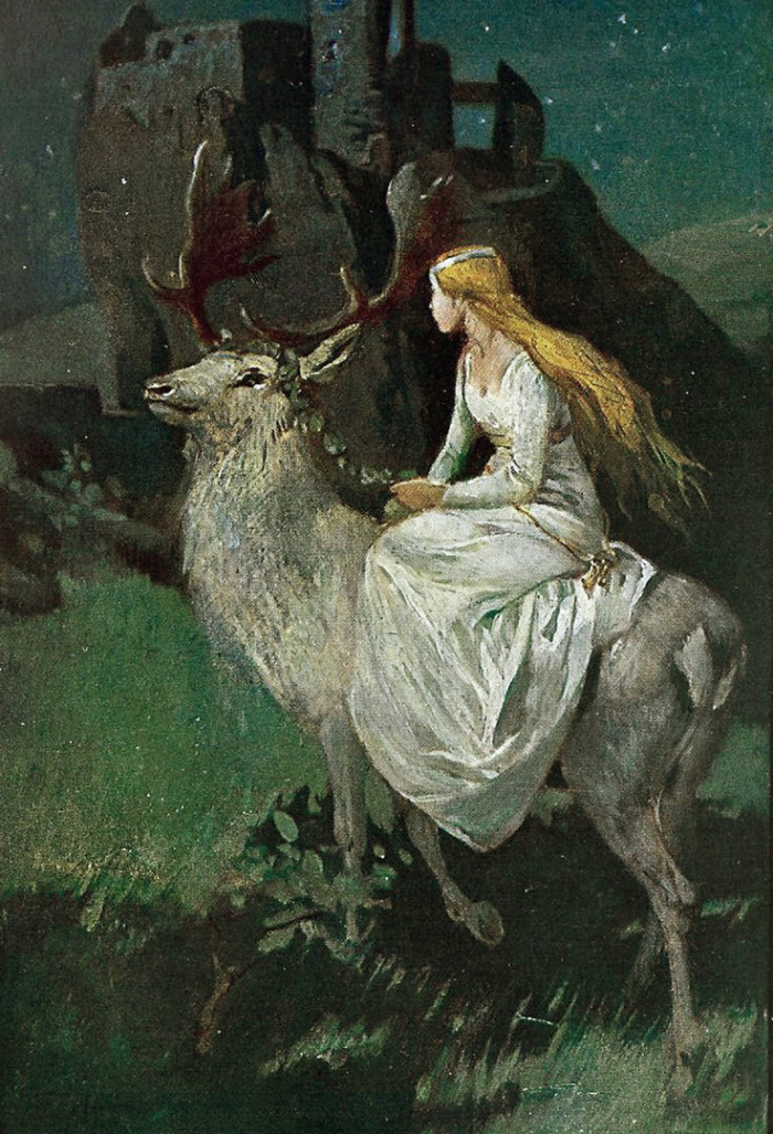 The Maiden Notburga & Her White Stag by Wilhelm Roegge