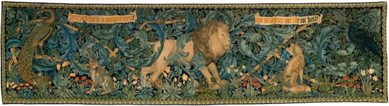 The Forest Tapestry designed by William Morris  Philip Webb and John Henry Dearle  woven at Merton Abbey  1887.jpg