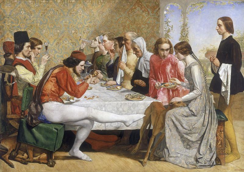 Isabella (from Keats' ''Isabella  or the Bot of Basil'') by John Everett Millais