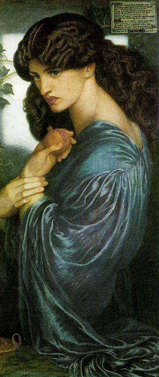 Proserpine (Persephone) by Dante Grabriel Rossetti. The model is Jane Morris