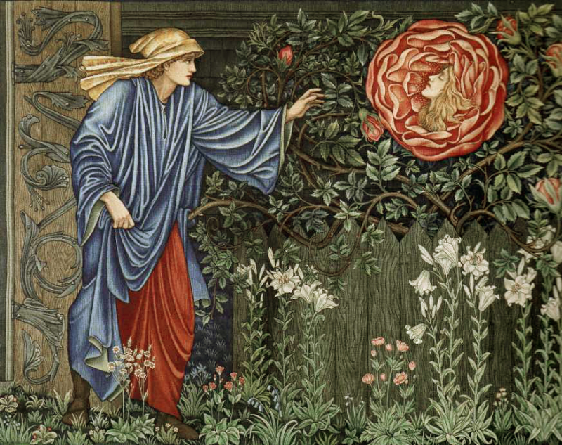 ''Pilgrim in the Garden'' by Edward Burne-Jones