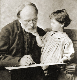 Edward Burne-Jones and his granddaughter Angela