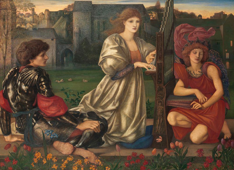 The Love Song (inspired by a Breton folk ballad) by Edward Burne-Jones