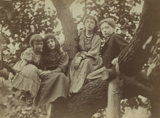 Margaret Burne-Jones, May Morris, Jenny Morris, & Philip Burne-Jones