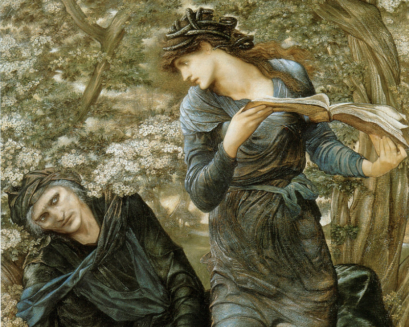 A detail from The Beguiling of Merlin by Sir Edward Burne-Jones