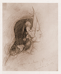 Sketch of Elizabeth Siddal by Barbara Leigh Smith Bodichon