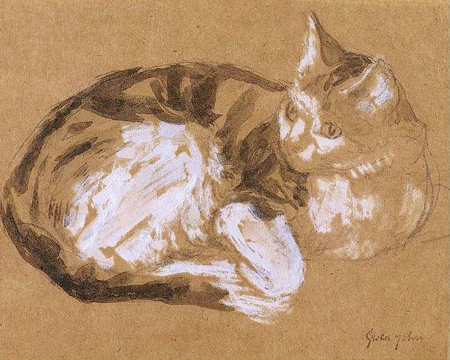 Tabby cat by Gwen John