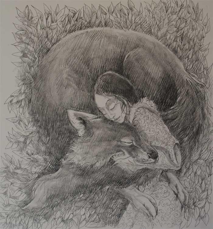 Drawing by Jackie Morris