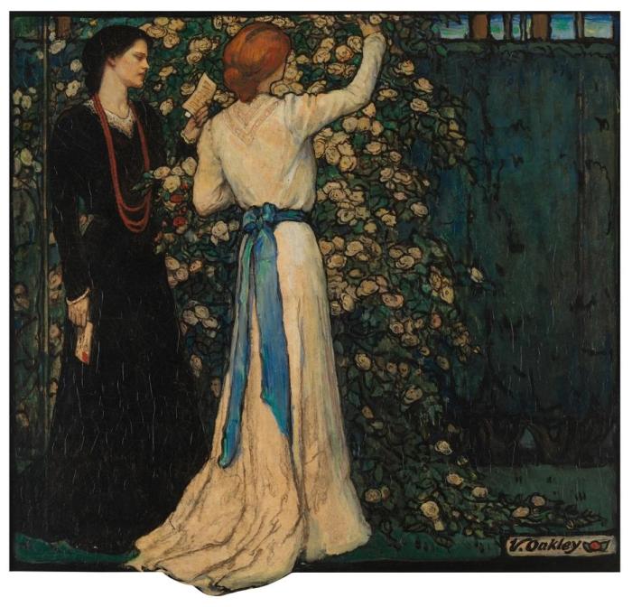 """""""June in the Artist's Garden"""" by Violet Oakley (1874-1961)"""