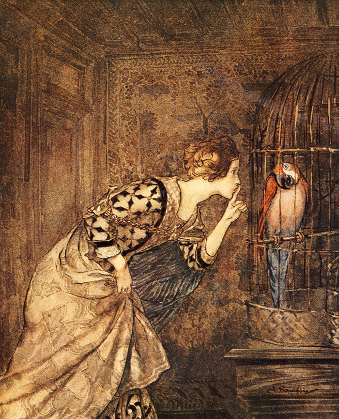 Arthur Rackham's ilustration for the British ballad ''May Colven''