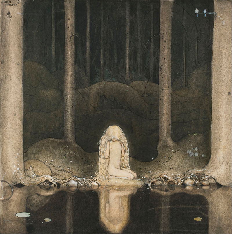 The Forest Tarn by John Bauer