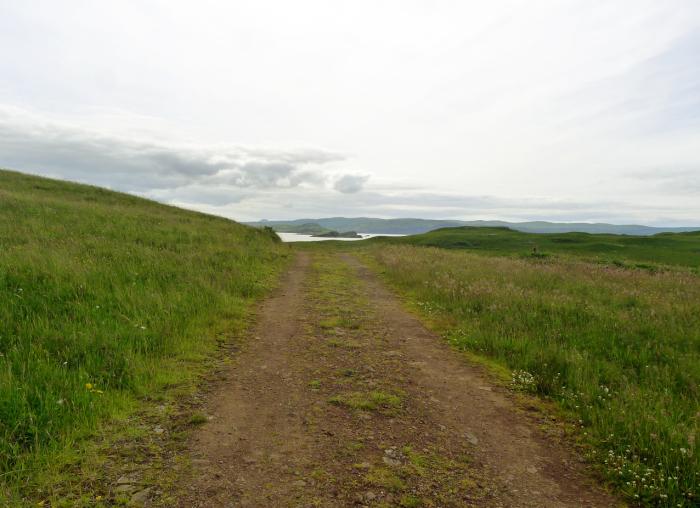 Road  loch  & sky on Skye