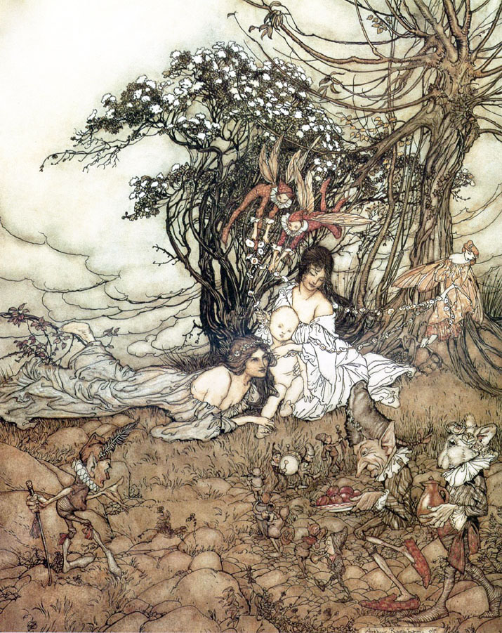 The Changeling by Arthur Rackham