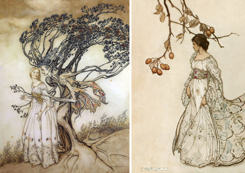 Two illustrations by Arthur Rackham