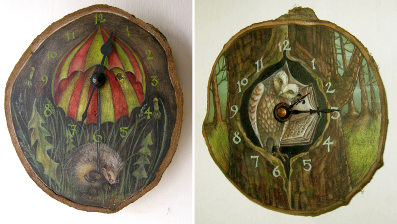 The Hedge-Brother Clock and The Word-Owl Clock