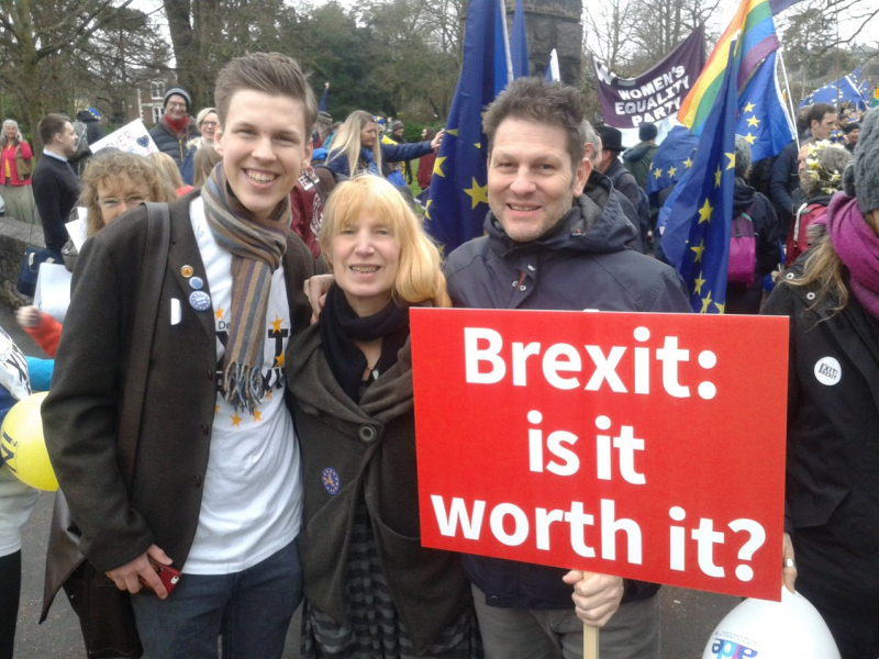 The Devon for Europe march, 2018