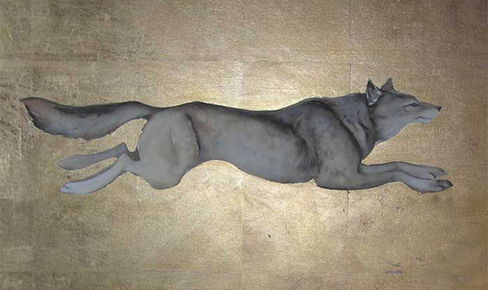 Wolf painting by Jackie Morris