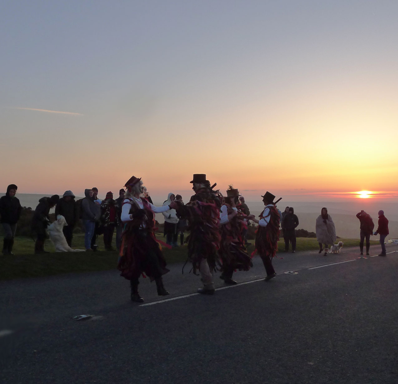 Border Morris at Hay Tor, 2018