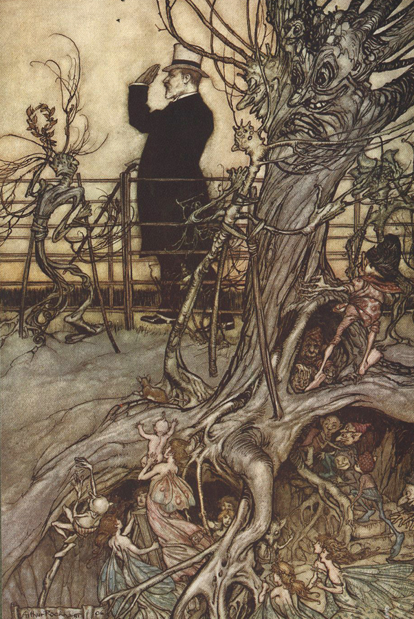 Arthur Rackham  from JM Barrie's Peter Pan in Kensington Gardens