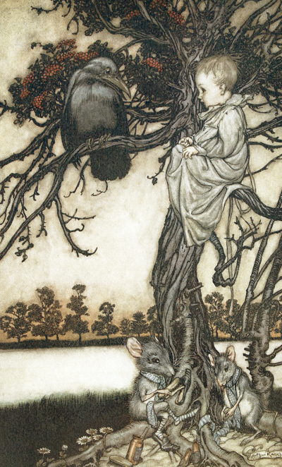 Peter Pan in Kensington Gardens illustrated by Arthur Rackham