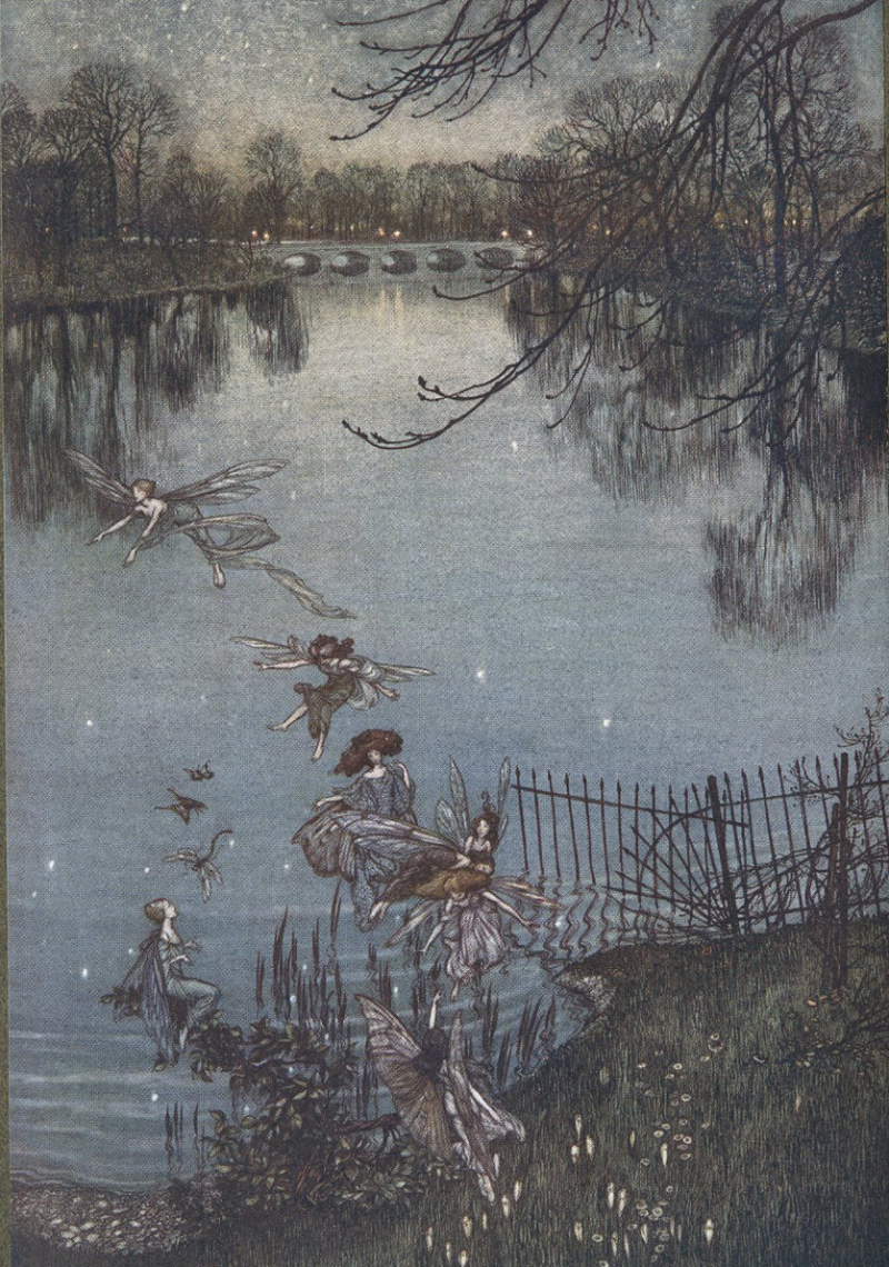 From Peter Pan in Kensington Gardens  illustrated by Arthur Rackham