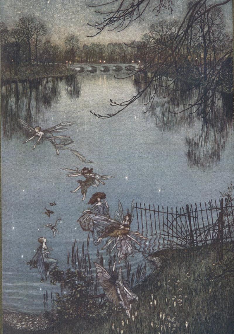 From Peter Pan in Kensington Gardens  illustrated by Arthur Rackham