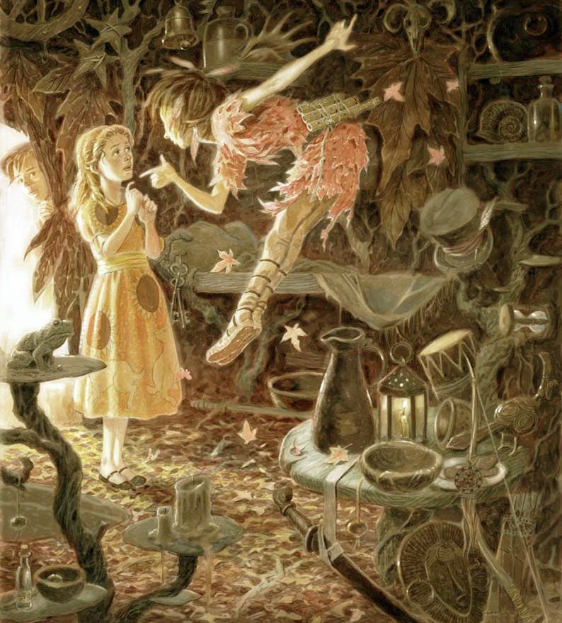 Peter Pan in Scarlet by David Wyatt