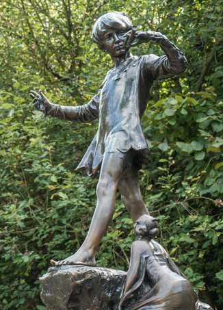 Peter Pan statue in Kensington Gardens by Sir George Frampton