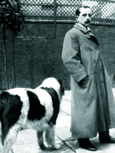 J.M.Barrie and his dog Porthos