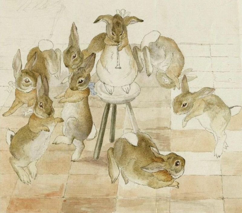 Rabbit sketch by Beatrix Potter
