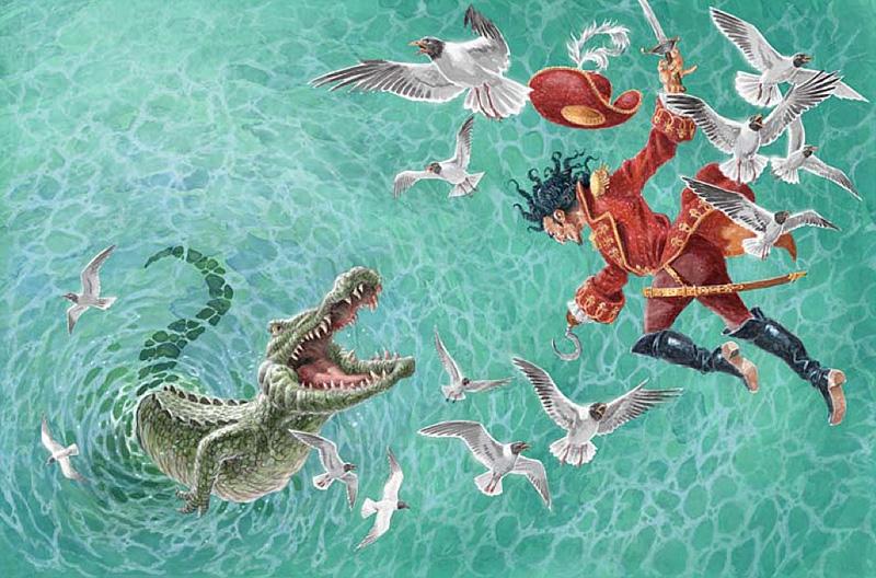 Captain Hook and the Crocodile by David Wyatt