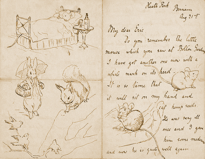 Illustrated letter by Beatrix Potter