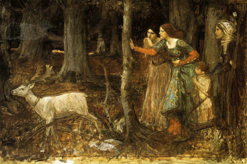 The Mystic Wood by John William Waterhouse