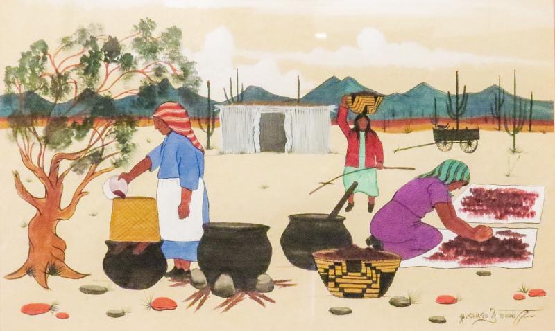 Harvest by Tohono O'odham artist Michael Chiaga