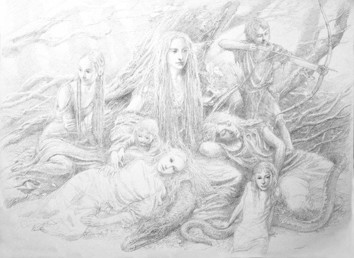 Fairies of the Wood by Alan Lee
