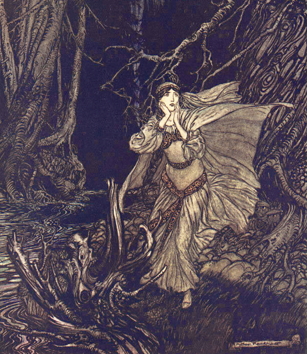 In the Dark Forest by Arthur Rackham