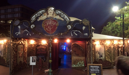 The Spiegeltent at the Festival of the Mind