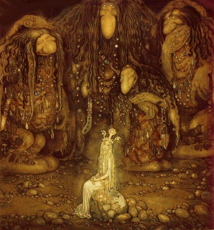 The Changeling & the Trolls by John Bauer