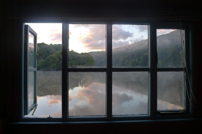 Dawn from the boat house window