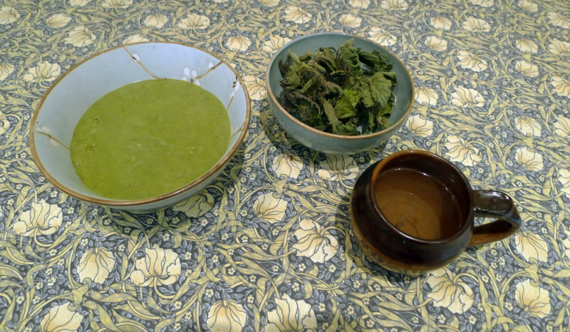 Nettle soup and tea