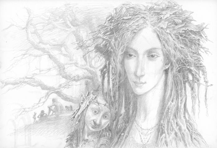 Green Woman by Alan Lee